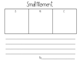 Small  Moment Template