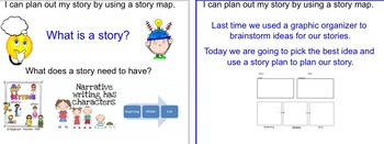 Small Moment Writing # 2- Story Map lesson