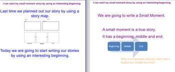 Small Moment Writing #3 - Beginning