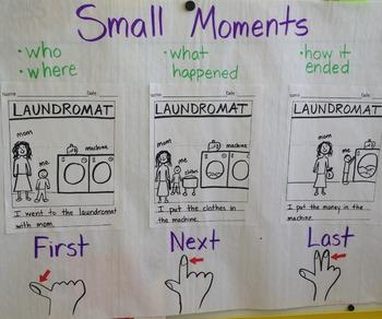 Small Moment Writing Chart