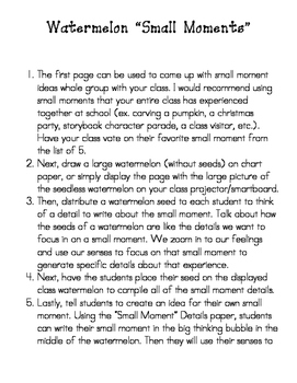 Lucy Calkins' Small Moment Writing Packet