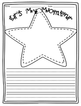 Small Moment Writing Template {Star Theme}