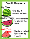 Small Moments Anchor Chart