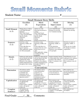 Small Moments Rubric