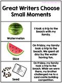 Small Moments Writing Anchor Charts