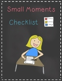 Small Moments Writing Checklist