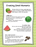 Small Moments with Mini-Anchor Chart for Writing Workshop
