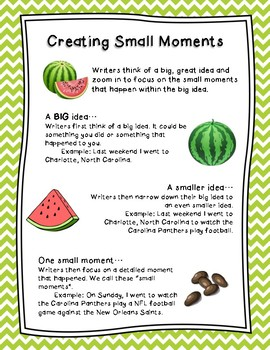 Image result for small moment writing