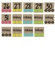 Neon Tribal Calendar Numbers - Small