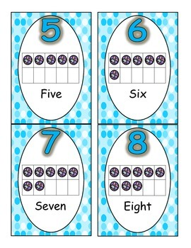 Small Number Posters Polka Dot and Paisley