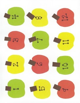 Small Numbered Apples 1-30