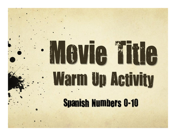 Spanish Numbers 1-10 Movie Titles