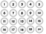 Small Numbers for Student Work/Bulletin Board