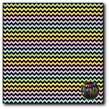 Small Pastel Chevron {BLACK} Digital Papers {Commercial Use Digital Graphics}