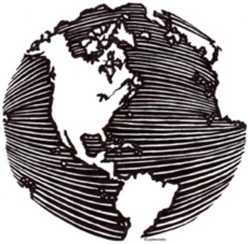 Small Pen & Ink Globe