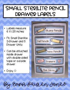 Small Pencil Drawer Labels