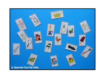 Small Picture Cards for Syllable Game.
