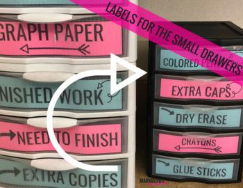 Small Plastic Drawer {Google Drive} Editable Labels