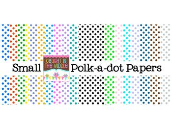 Small Polk-a-dot Papers