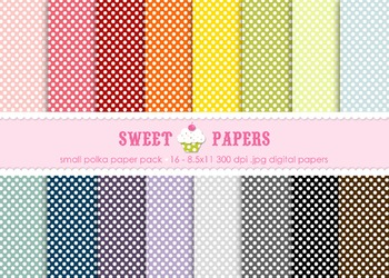 Small Polka Digital Paper Pack - by Sweet Papers