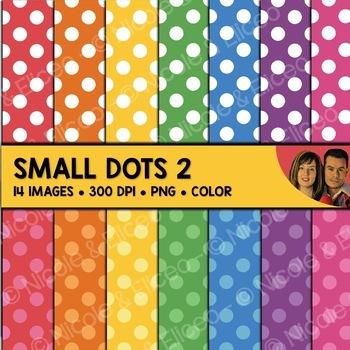 Digital Paper - Small Polka Dot Backgrounds 2