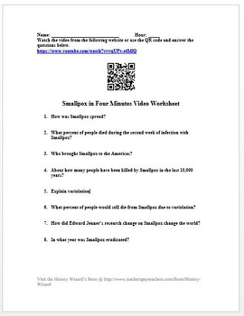 Smallpox in Four Minutes Video Worksheet