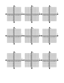Small Printable 8x8 coordinate planes (9 per page)