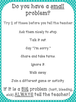Small Problem vs. Big Problem Poster