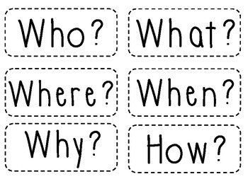 Small Question Word Cards