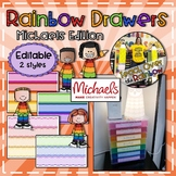 Small Rainbow Drawer Labels (Michaels Edtion)
