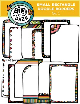Small Rectangle Doodle Borders and Note Cards