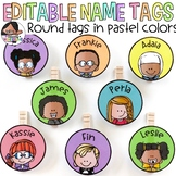 Small Round Labels for Student Work Displays | Pastel Colors