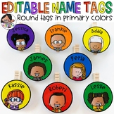 Small Round Labels for Student Work Displays | Primary Colors