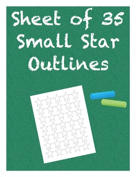 Small Star Outlines Sheet of 35