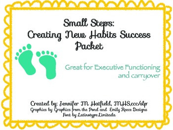 Small Steps: Creating New Habits Success Packet
