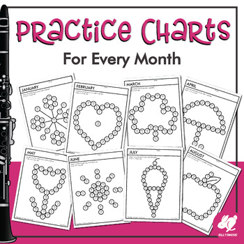 Small Steps Monthly Music Practice Charts
