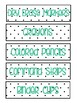 Small Sterilite 3 Drawer Labels - Black and White Dot