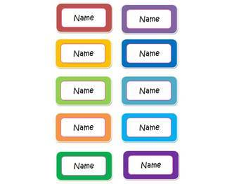 Small Student Name Labels Editable