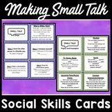 Small Talk Conversation Cards for Social Skills
