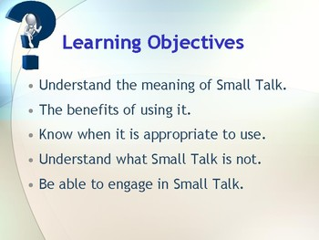 Small Talk Presentation for ESL ESOL and Workplace