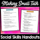 Small Talk Social Skills Handouts