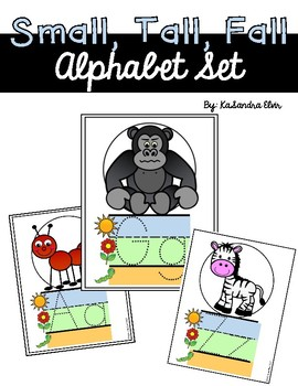 Small, Tall, Fall Alphabet Set Primary Handwriting Lines