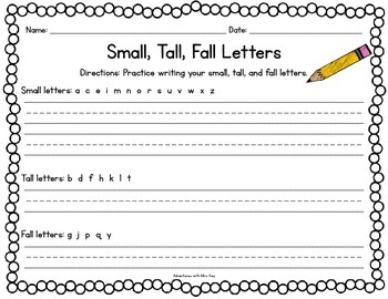 Small, Tall, Fall Letters~Poster
