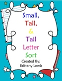 Small, Tall, Tail Letter Sort