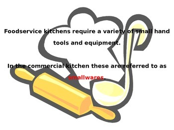 Small Tools Unit Lesson for Foods and Culinary Arts