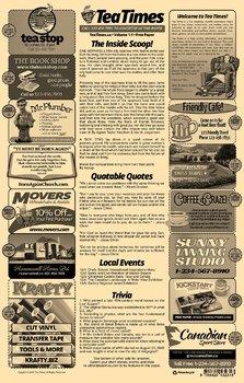2 Page Newspaper Template Adobe Illustrator (11x17 inch)