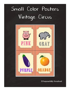 Small Vintage Circus Color Posters