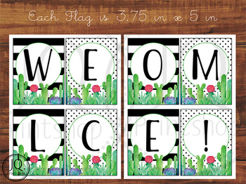 Small Welcome Cactus Theme Banner