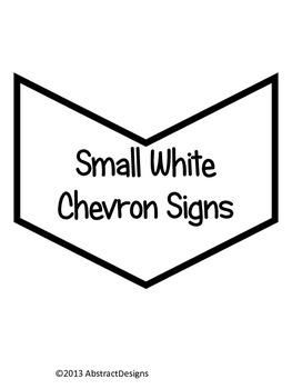 Small White Chevron Signs