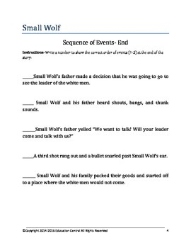 Small Wolf Comprehension Packet